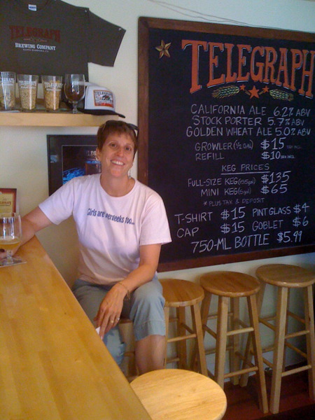 Enjoying a White Ale at Telegraph Brewing Company