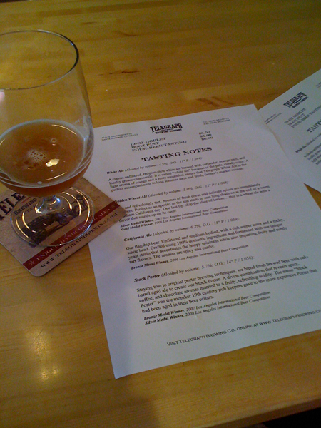 Tasters at Telegraph Brewing