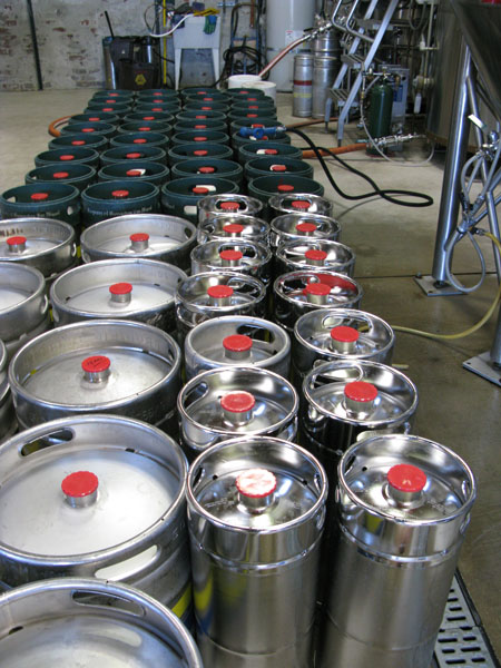 New kegs waiting to be filled with Linden Street brews