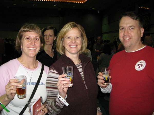 Merideth with our friends and fellow beer travelers Matt and Michelle.