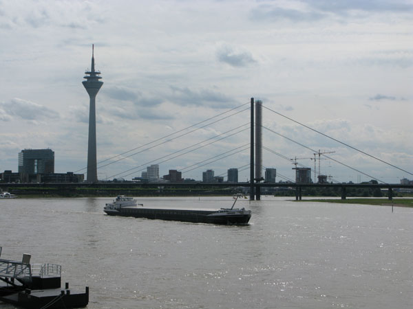 A barge on the mighty Rhine