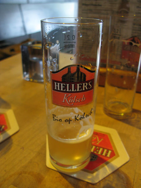 Hellers Wiess, an unfiltered version of their Kölsch
