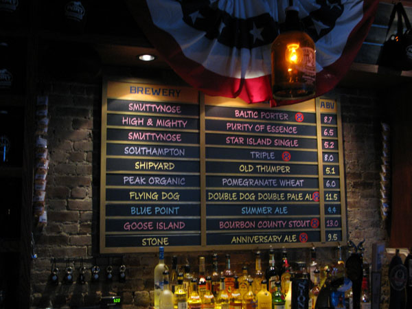 Some of the selections at the Pony Bar