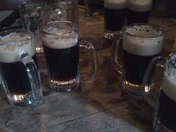 The dark ale at McSorleys