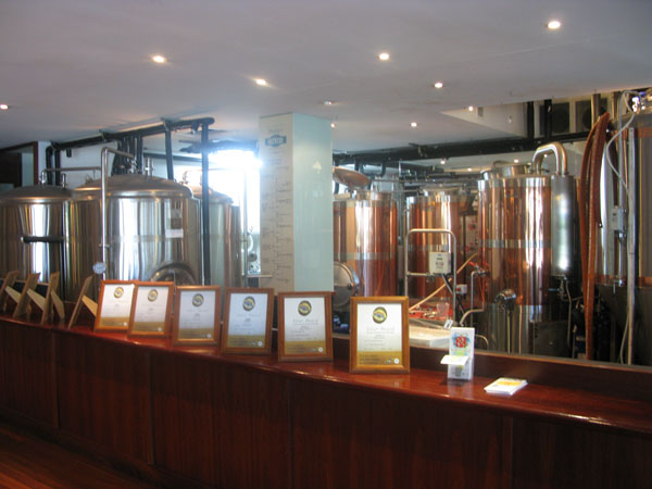 The brewery and awards at Paddys