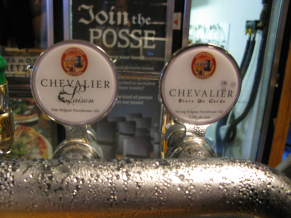 Two of the three Chevalier beers