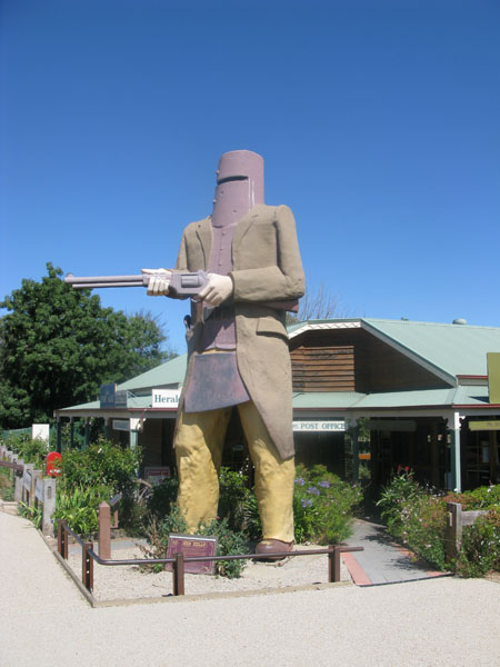 The giant Ned Kelly in Glenrowan