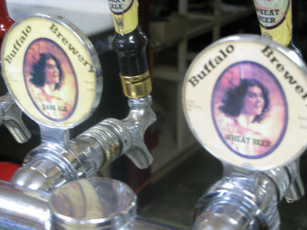 Ms. Cherry adorns the label of Buffalo Brewery