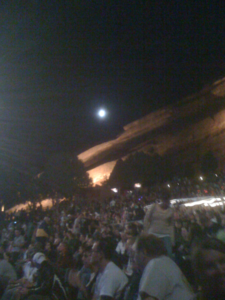 The moon over Red Rocks