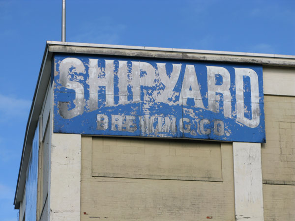 Shipyards well worn sign